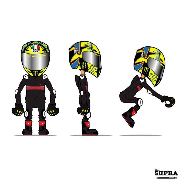Illustrateur moto vince supra illustrations dessins - Dessin de motard ...